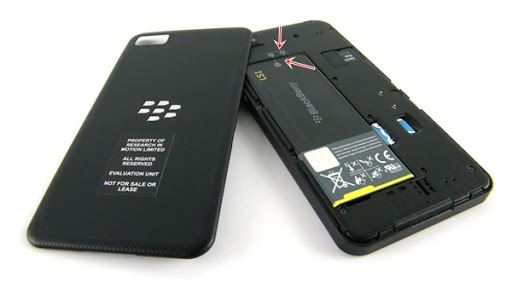 Blackberry hỏng pin