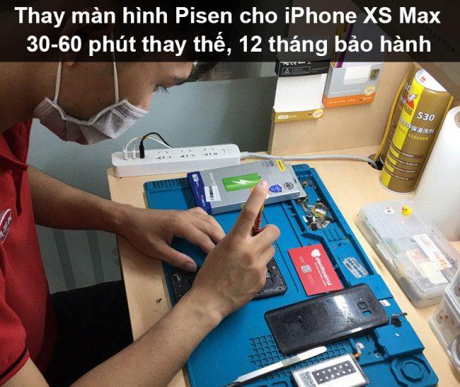 Thay màn hình iPhone Xs Max Pisen chính hãng uy tín chất lượng