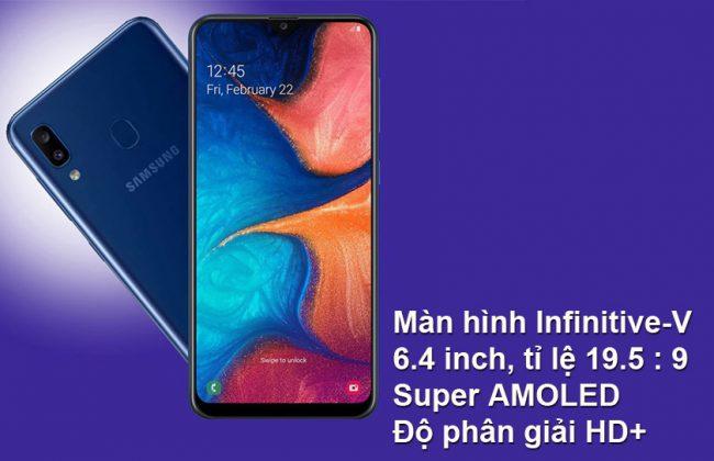 Thay màn hình Samsung Galaxy A20 hàng chính hãng giá tốt